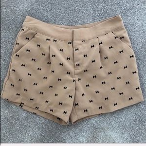 Lauren Conrad embroidered bow tie shorts